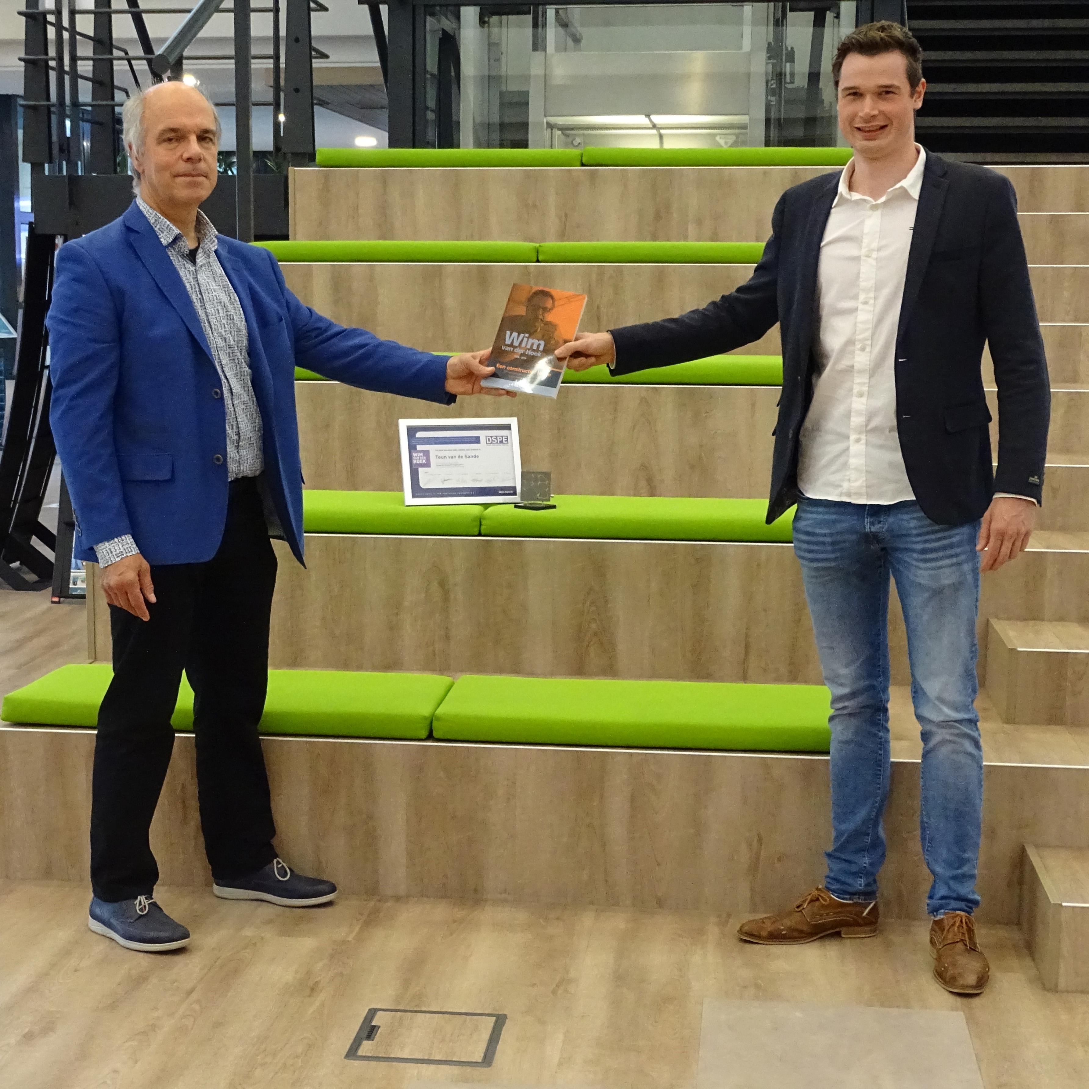 Teun van de Sande, winner of the Wim van der Hoek Award 2020